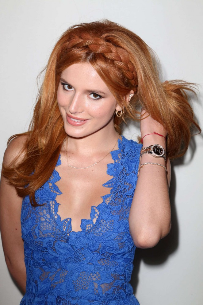 Bella Thorne – Monique Lhuillier Fashion Show Spring 2016 NYFW in NYC