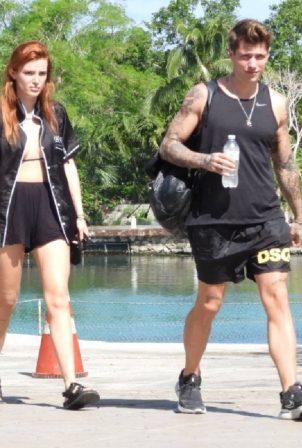 Bella Thorne - On a luxury yacht with her boyfriend in Tulum