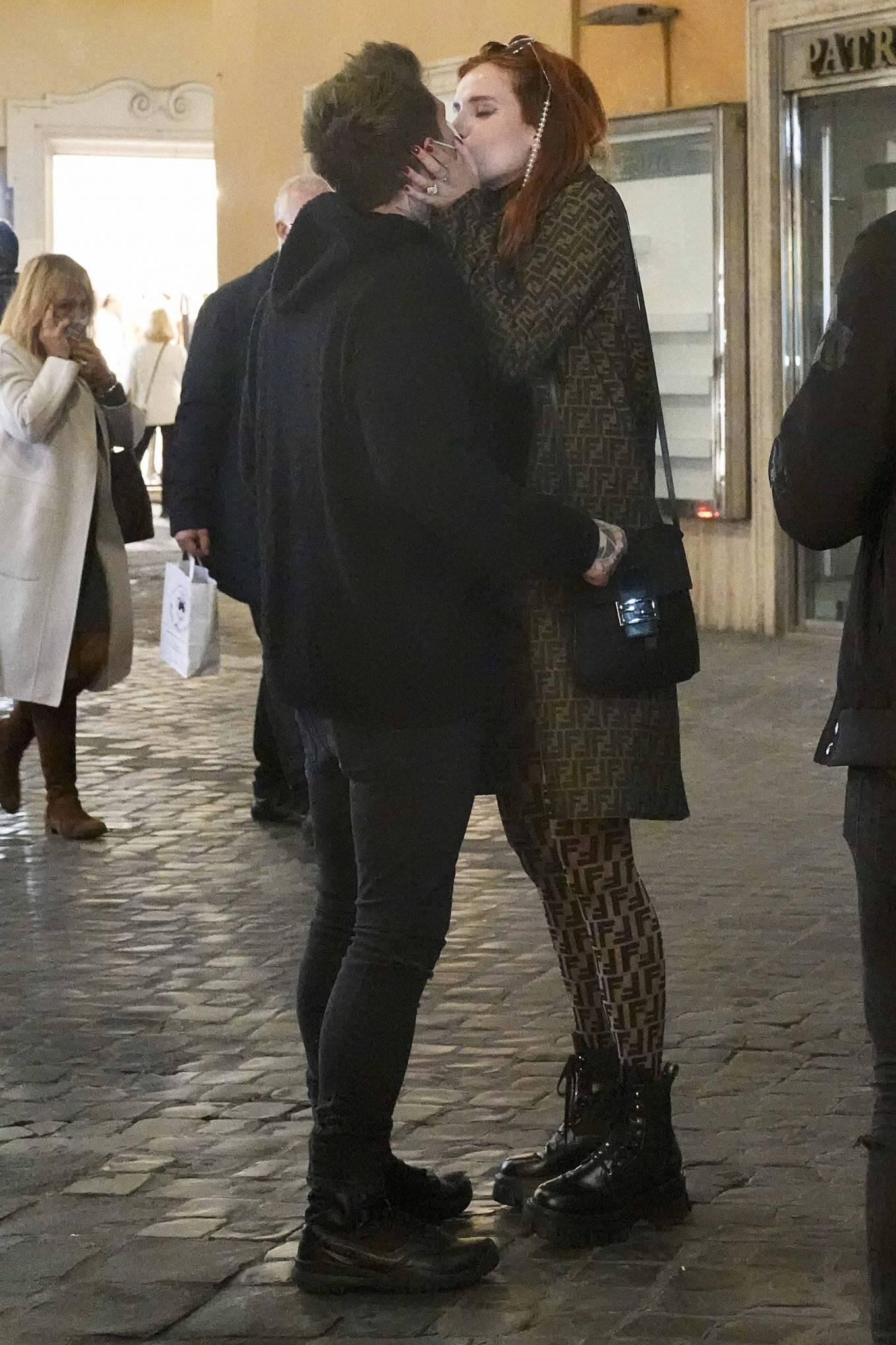 Bella Thorne on PDA with boyfriend singer Benjamin Mascolo in Rome
