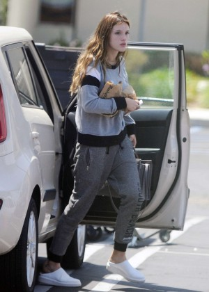 Bella Thorne - On set of 'You Get Me' in Los Angeles