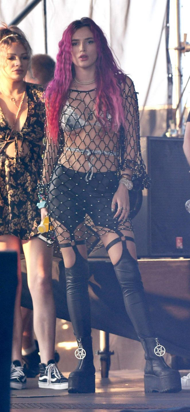 Bella Thorne on stage at the Billboard Hot 100 day 2 in New York