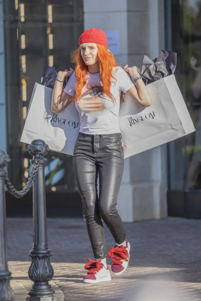Bella Thorne - On the set of 'Droppin' Cash' in Calabasas