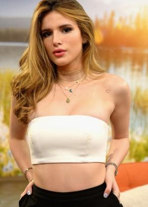 Bella Thorne on the set of Univision's 'Despierta America' in Miami