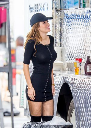 Bella Thorne in Tight Dress on You Get Me Set -01