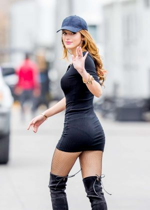 Bella Thorne in Tight Dress on You Get Me Set -03