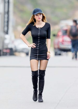 Bella Thorne in Tight Dress on You Get Me Set -05