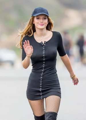 Bella Thorne in Tight Dress on You Get Me Set -09