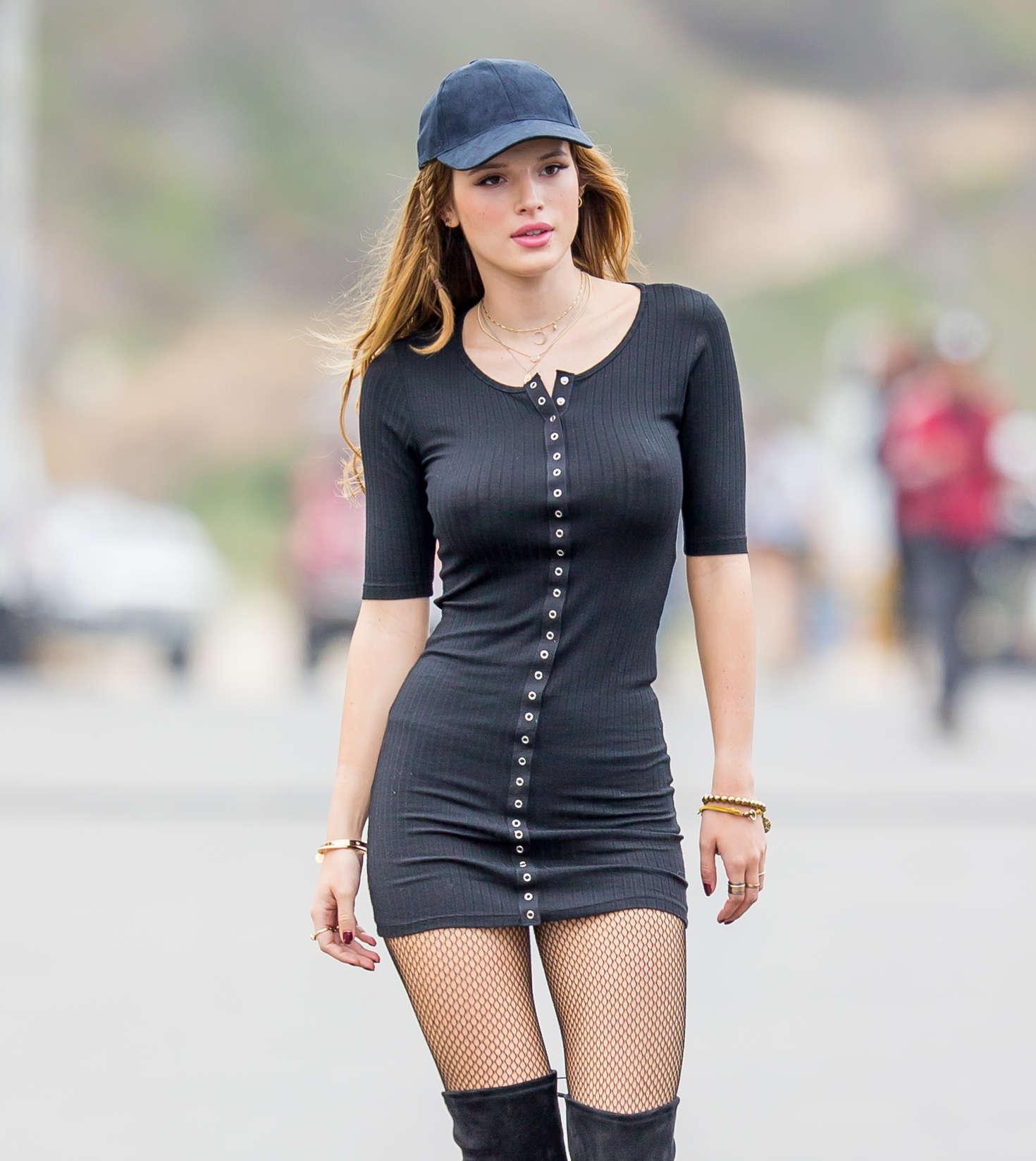Huge Puffy Nipples Pics Good bella thorne huge puffy n*pples in see thru dress