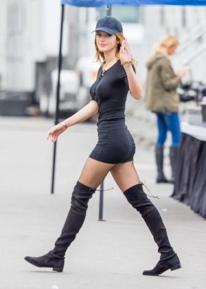 Bella Thorne in Tight Dress on You Get Me Set -13