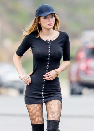 Bella Thorne - On the Set of 'You Get Me' in San Pedro