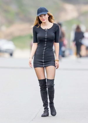 Bella Thorne in Tight Dress on You Get Me Set -18