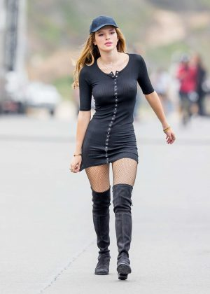 Bella Thorne in Tight Dress on You Get Me Set -24