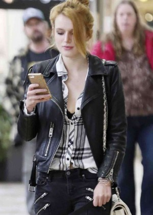 Bella Thorne in Jeans Out Shopping in LA