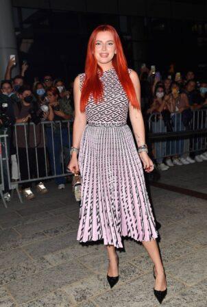 Bella Thorne - Posing during Versace show during Milan Fashion Week