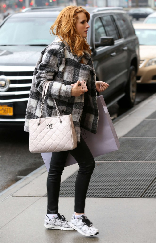 Bella Thorne – Returning to her hotel in NYC