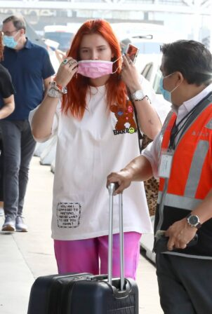 Bella Thorne - Seen catching a flight out of LAX