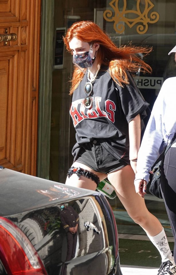 Bella Thorne - Seen leaving her hotel in Rome