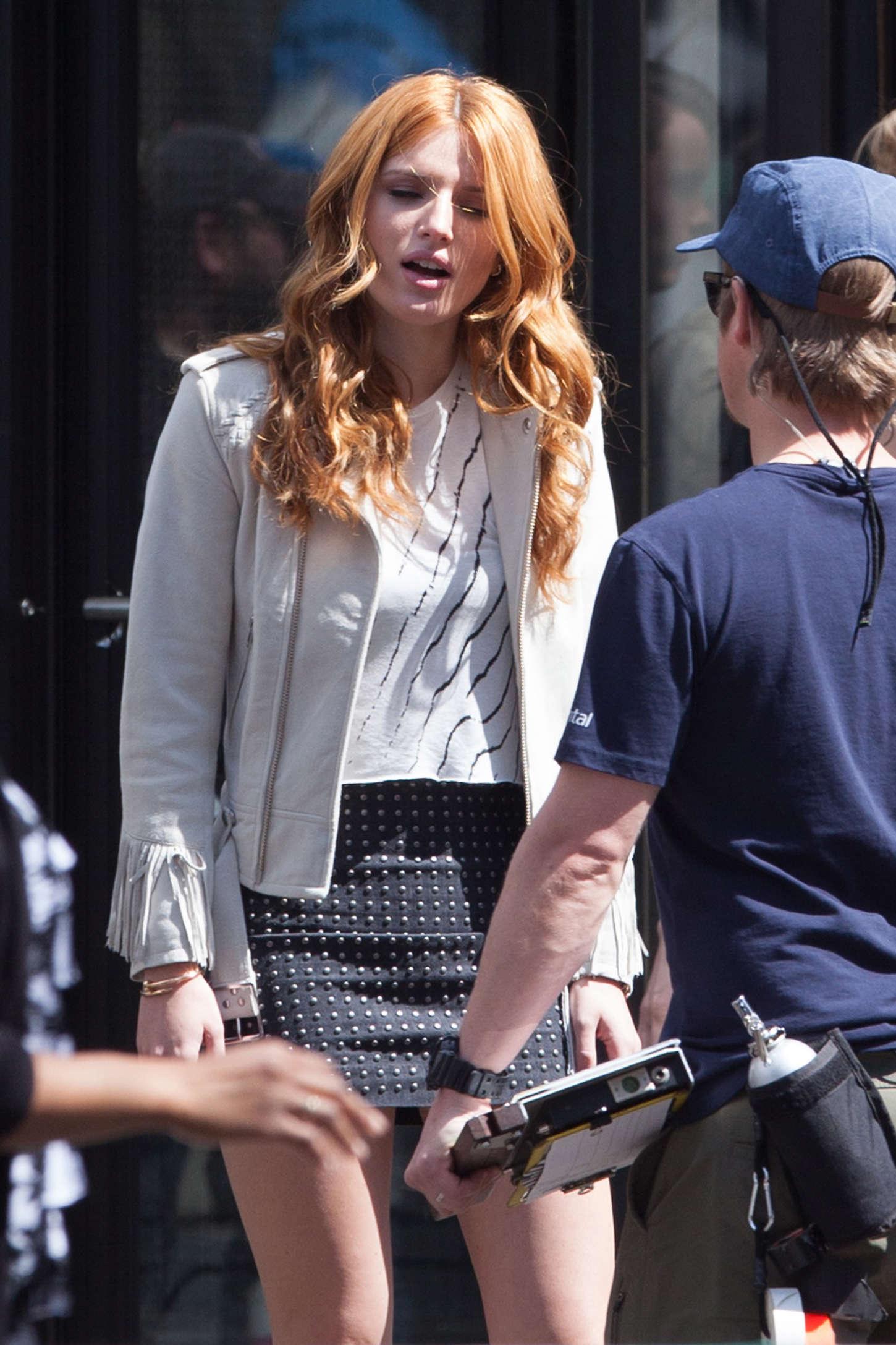 Bella Thorne 2015 : Bella Thorne in Mini Skirt -02
