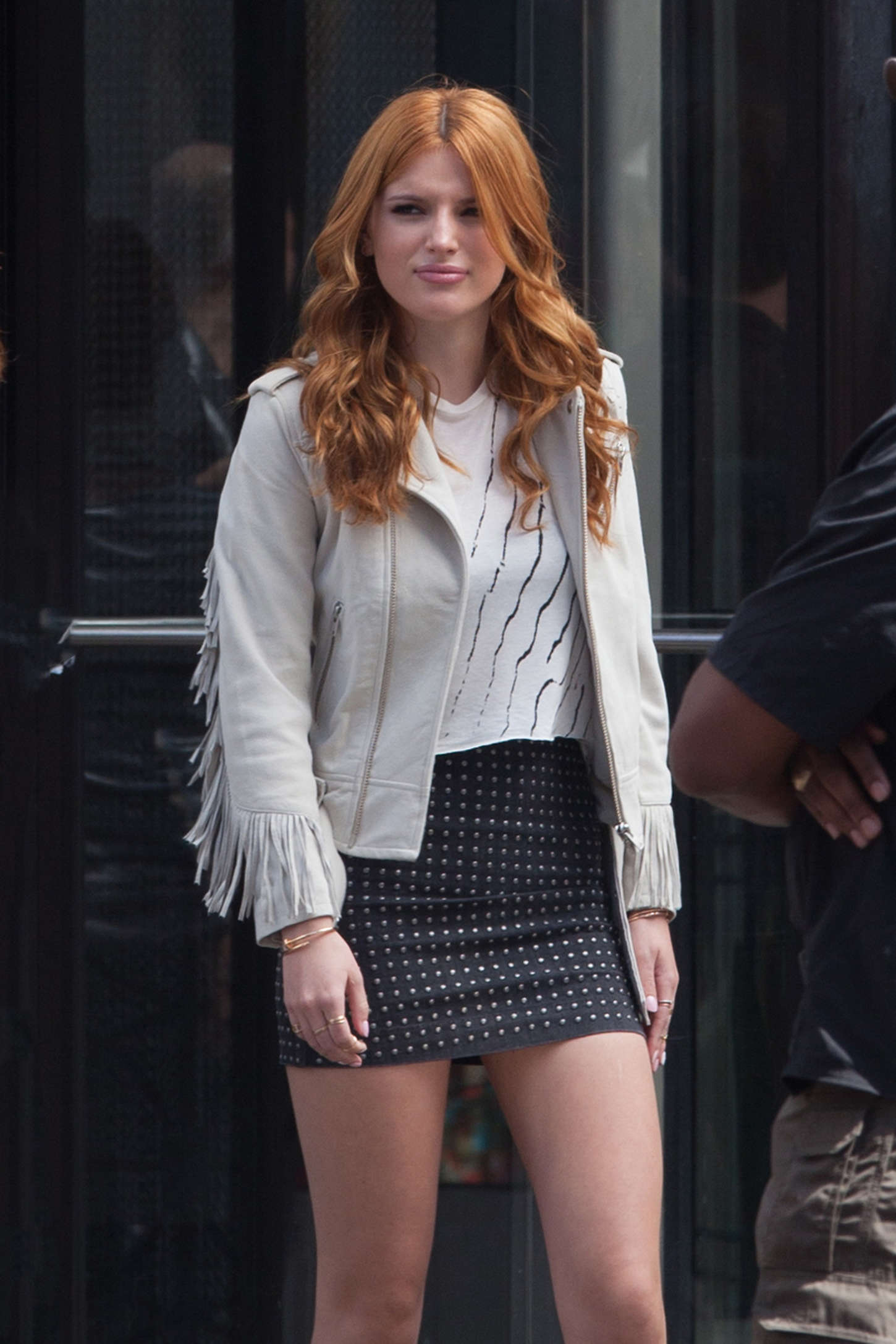 Bella Thorne 2015 : Bella Thorne in Mini Skirt -07