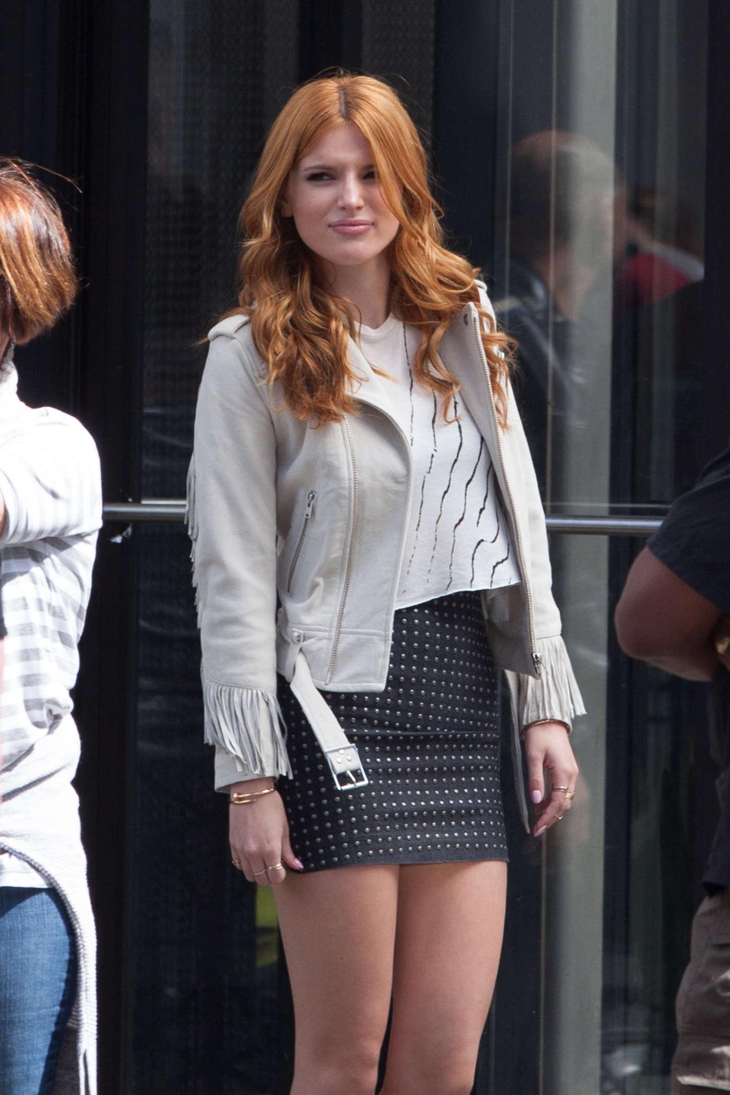 Bella Thorne 2015 : Bella Thorne in Mini Skirt -20