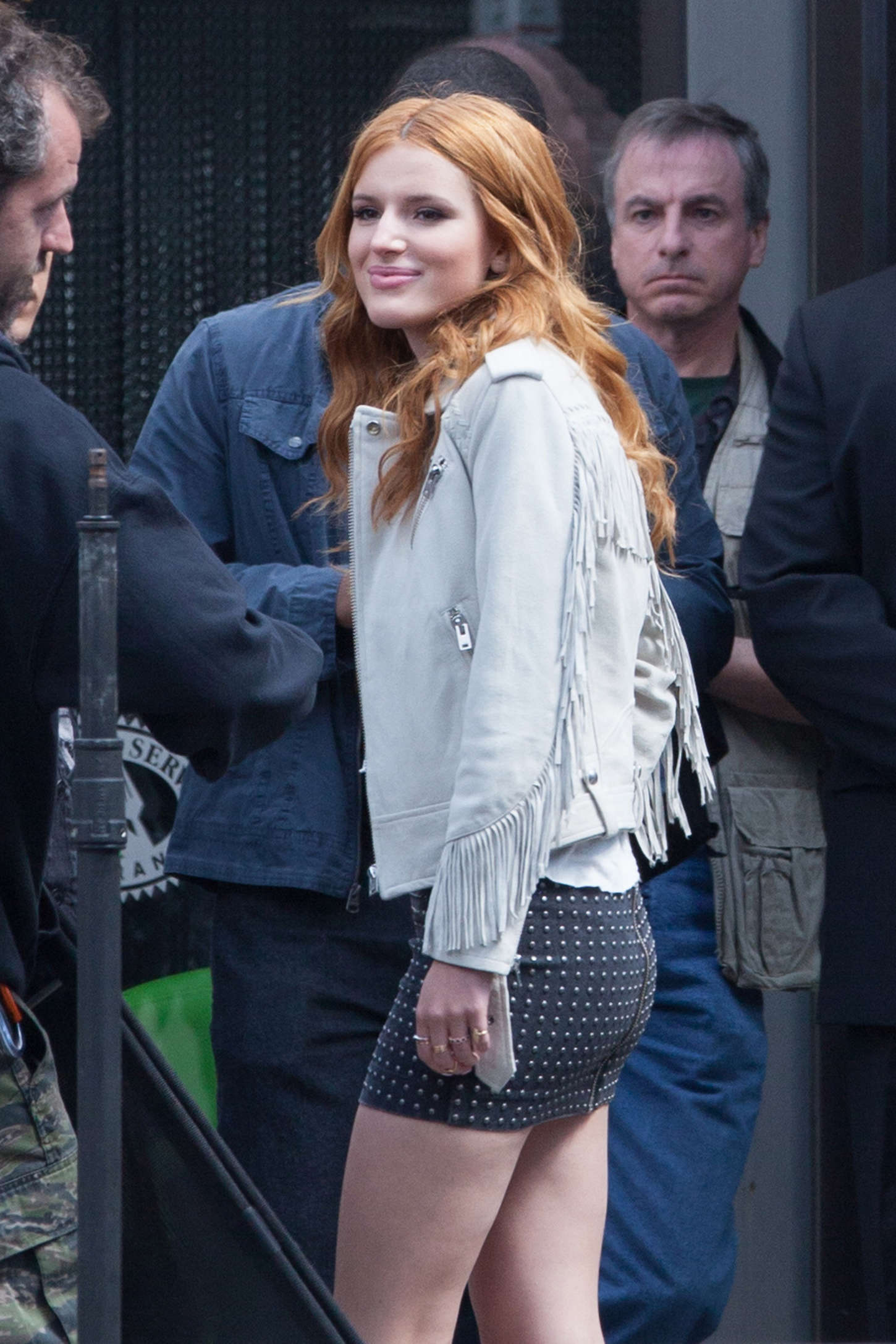 """Bella Thorne - Set of """"Alvin and the Chipmunks: Road Chip"""" in Georgia"""