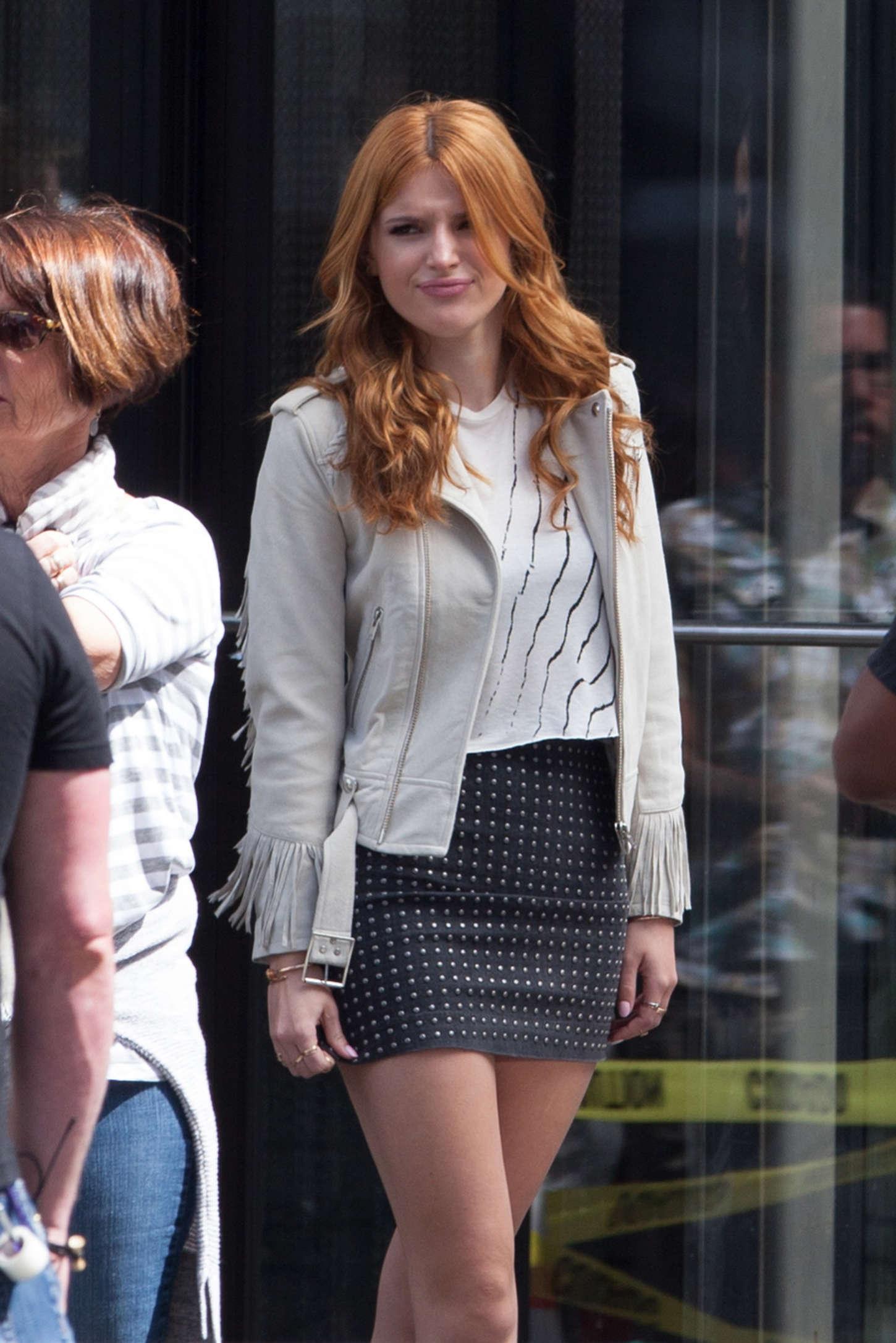 Bella Thorne 2015 : Bella Thorne in Mini Skirt -22