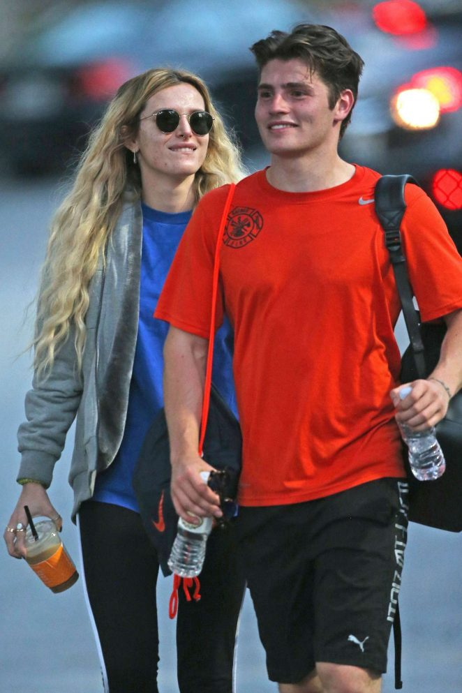Bella Thorne - Supports Gregg Sulkin at a soccer game in LA
