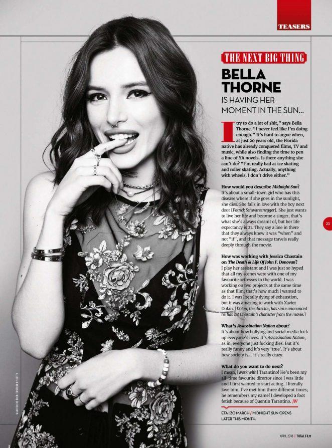 Bella Thorne – Total Film Magazine (April 2018)