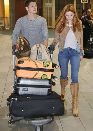 Bella Thorne in Jeans at Vancouver International Airport