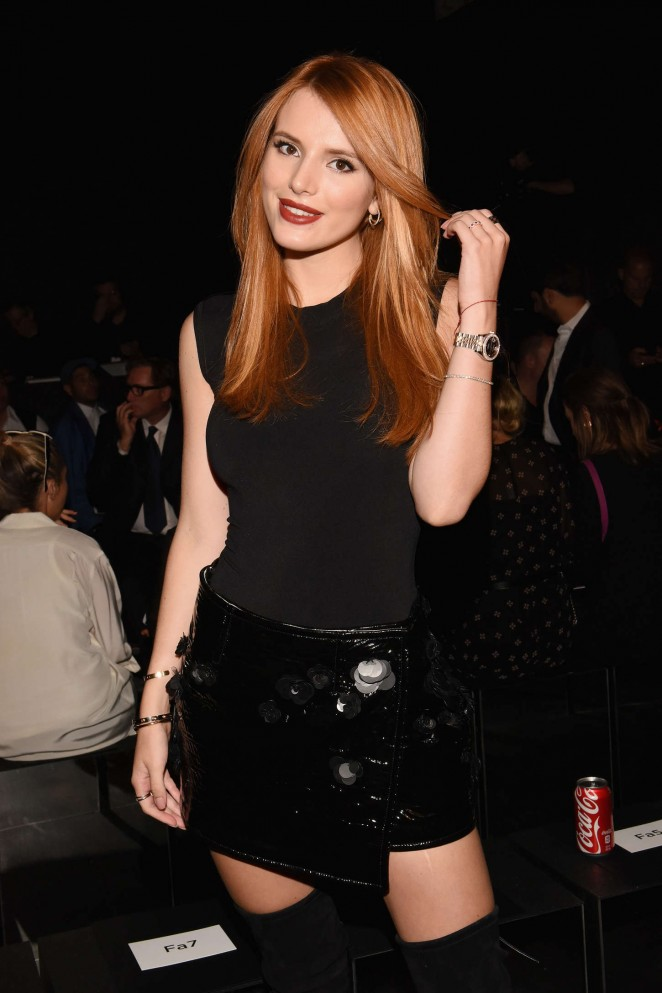 Bella Thorne: Vera Wang Fashion Show at Spring 2016 NYFW -05