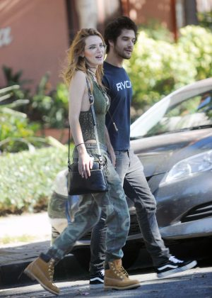 Bella Thorne With Boyfriend Out In West Hollywood Gotceleb