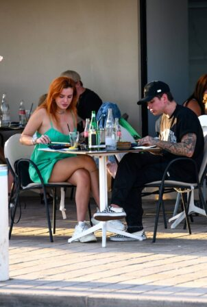Bella Thorne - With her fiancé Benjamin Mascolo seen during the 74th Cannes Film Festival