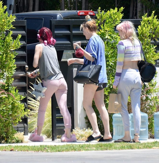 Bella Thorne with red hair in Beverly Hills -17
