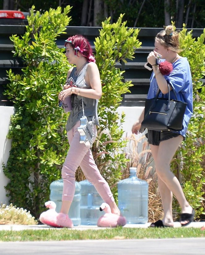 Bella Thorne with red hair in Beverly Hills -23