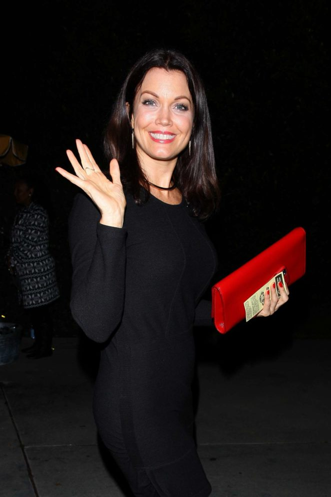 Bellamy Young - Heads to a house party in Los Angeles