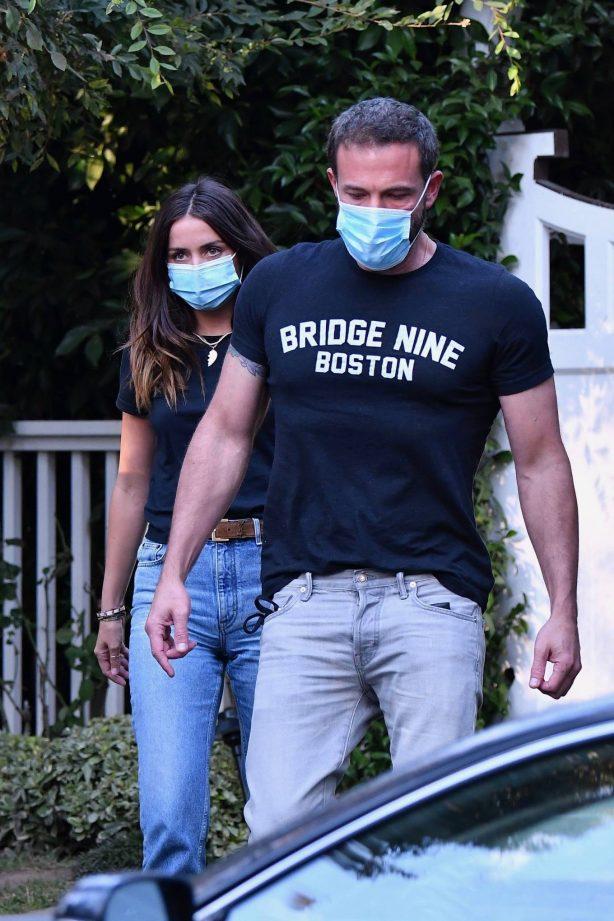 Ben Affleck and Ana de Armas - Leaving kids at ex Jennifer Garner's home in Brentwood