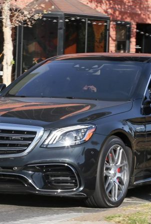 Ben Affleck and Ana de Armas - Seen while out driving his Mercedes