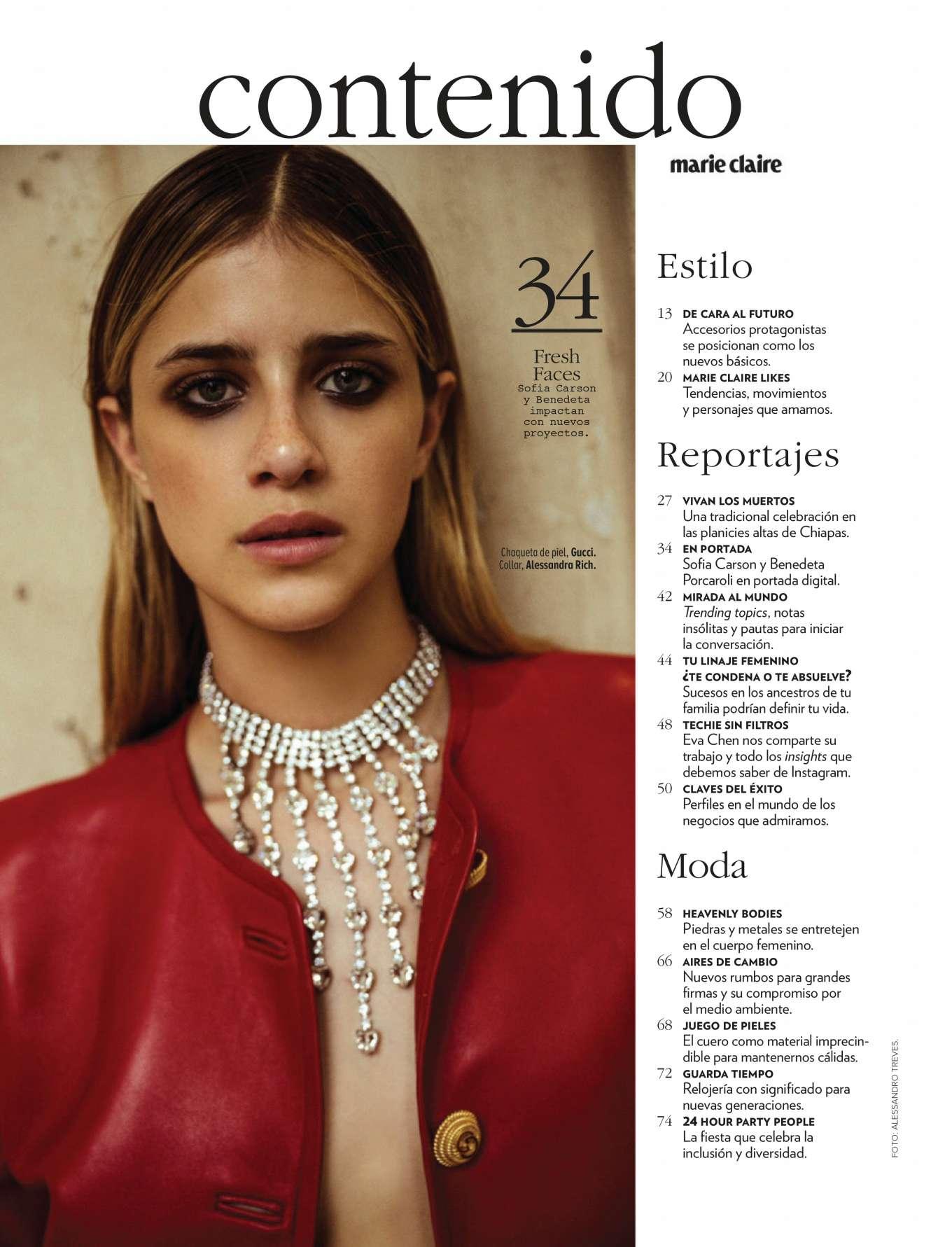 Benedetta Porcaroli - Marie Claire Mexico Magazine (November 2019)