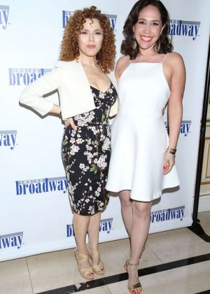 Bernadette Peters and Andrea Burns - Inside Broadway's 2016 Beacon Awards in New York