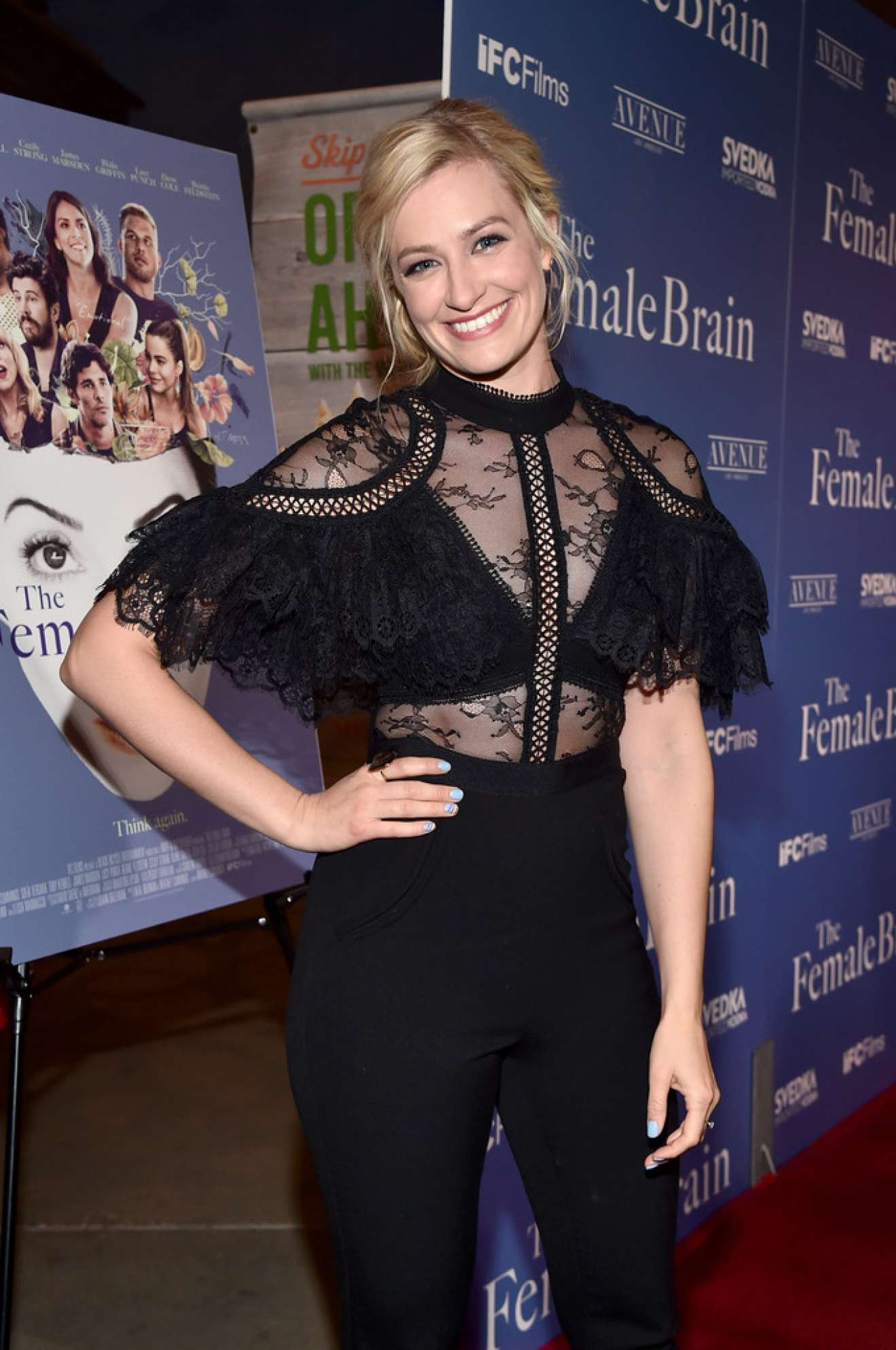 beth behrs the female brain premiere in hollywood gotceleb