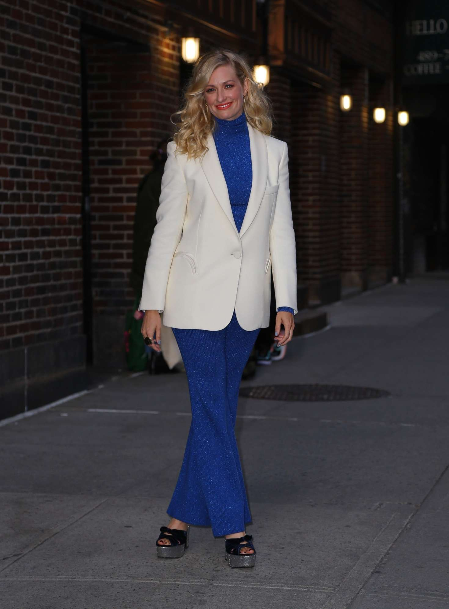 Beth Behrs - Visits 'The Late show Stephen Colbert' in New York City