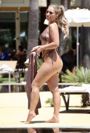 Bethan Kershaw - In bikini at the pool in Albufeira