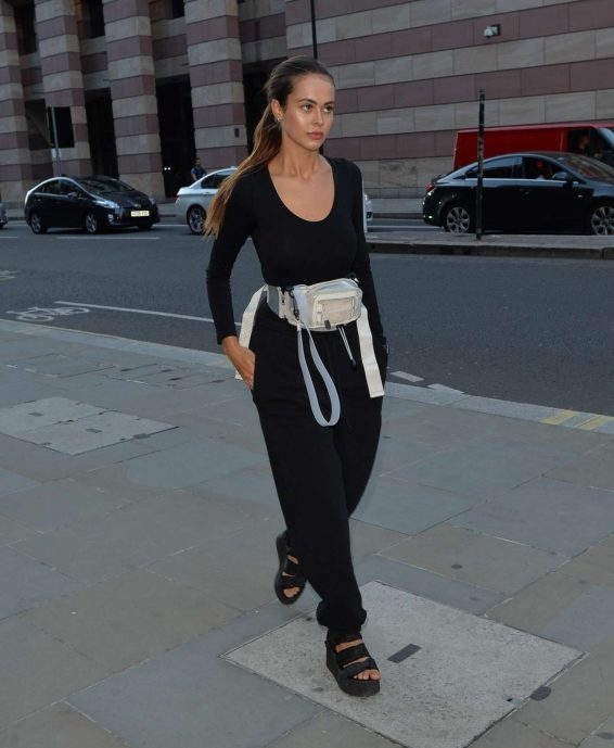 Bethan Wright - Leaving the Ned hotel in London