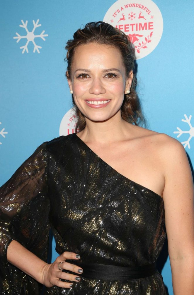 Bethany Joy Lenz - Gingerbread House Experience in Los Angeles