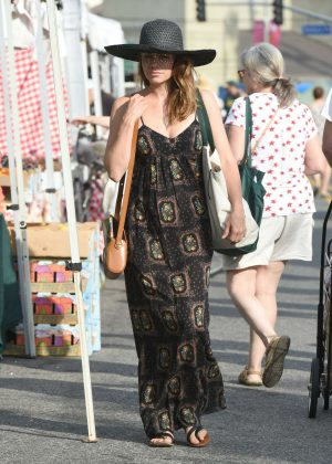Bethany Joy Lenz in Long Dress at Farmers Market in LA