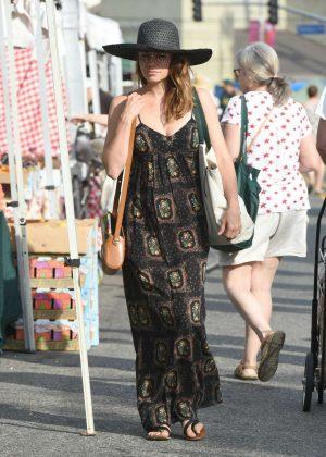 Bethany Joy Lenz in Long Dress at Farmers Market in LA