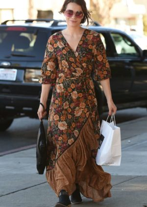 Bethany Joy Lenz in Long Dress out in Los Angeles