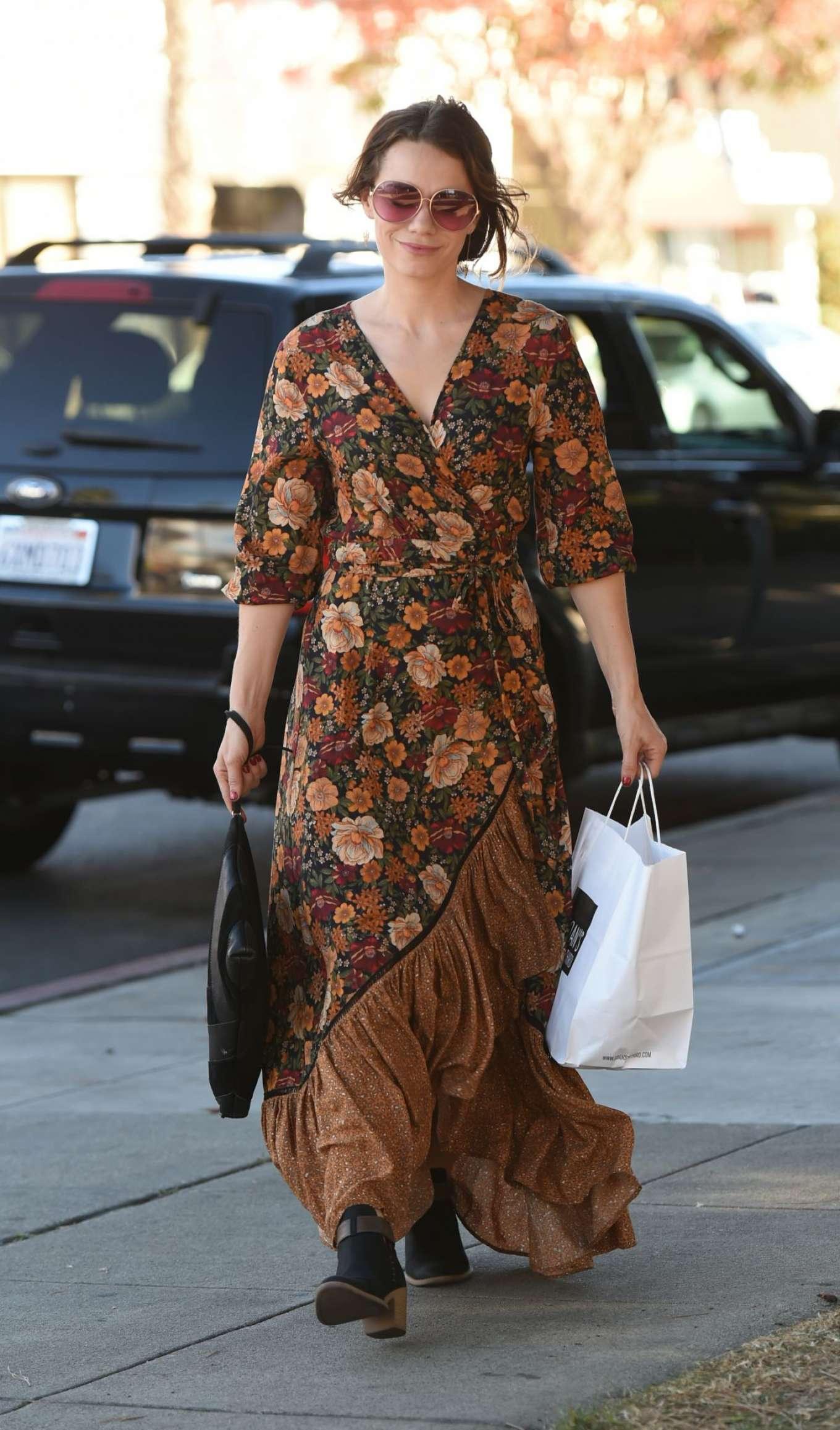 Bethany Joy Lenz in Long Dress out in Los Angeles