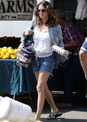 Bethany Joy Lenz shopping at the Farmers Market in Studio City