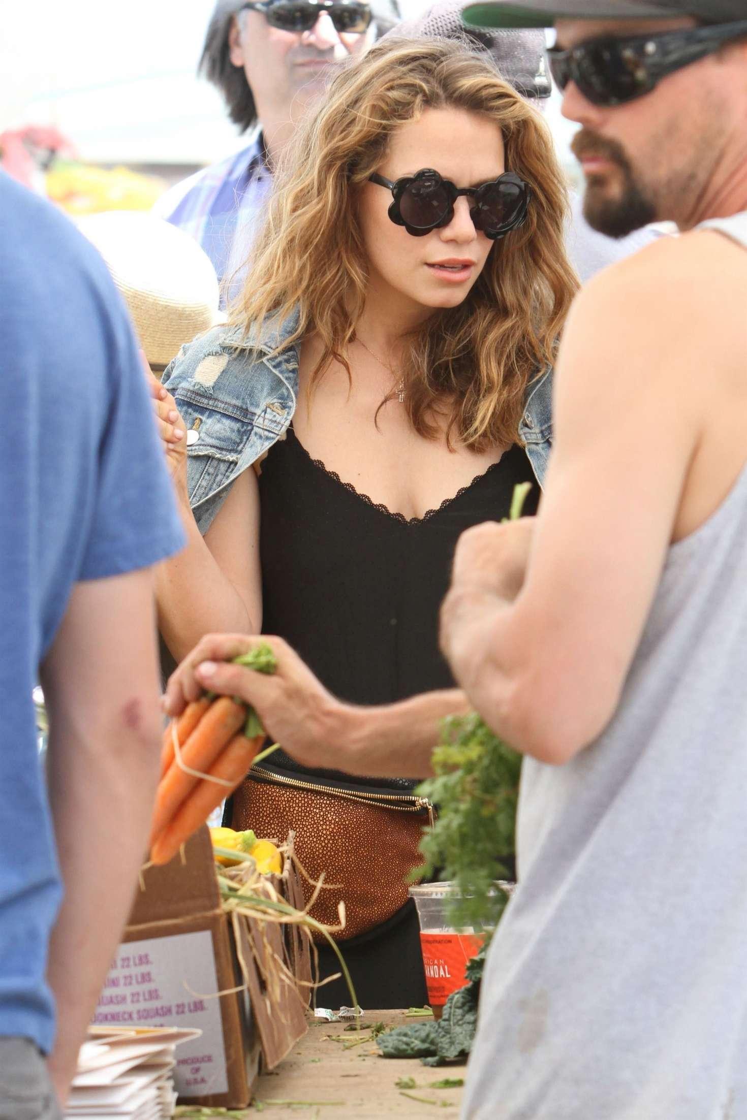 Bethany Joy Lenz - Shopping at the farmers market in Studio City
